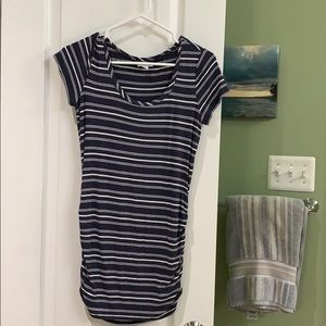 Striped maternity shirt